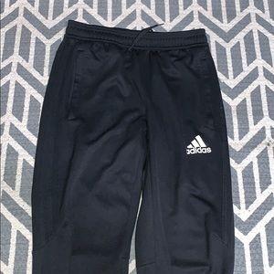 black adidas track pants youth large